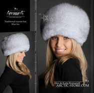 Round full fur hats