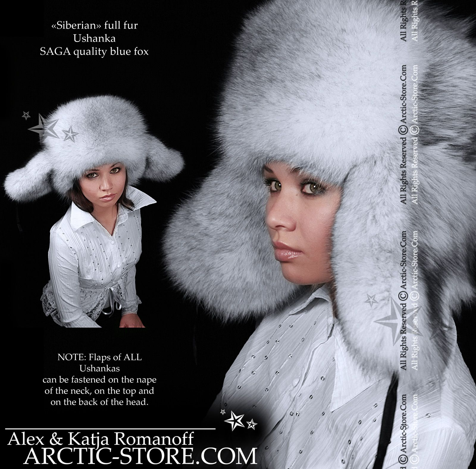 0f3118b64c9a0 Siberian full fur Ushanka hat