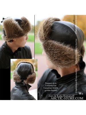 trapper fur Russian beaver hat