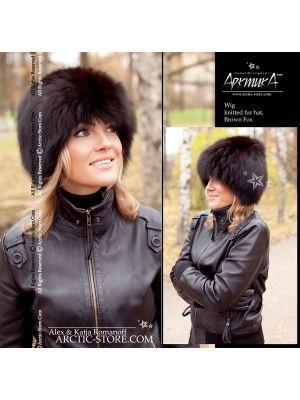 Fur wig, brown fox