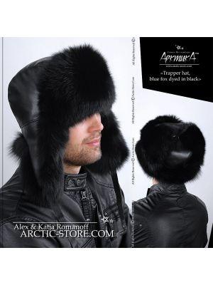 Trapper hat, black fox