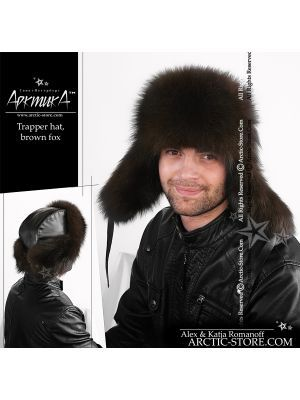 Trapper hat, brown fox