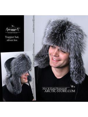 Trapper fur hat - silver fox / arctic-store