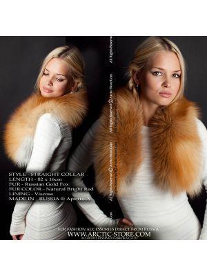 Women's fur collar - gold fox / arctic-store