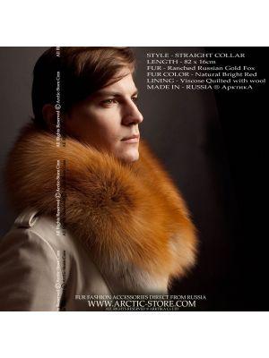 Men's fur boa - gold fox collar / arctic-store