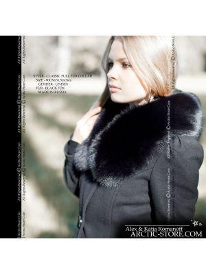 Women's fur collar - back fox 80cm / arctic-store