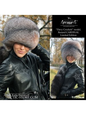 hunter's hat with tail - davy crockett fox hat - arctic-store