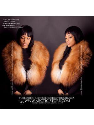 women's fur collar - gold fox pelerine