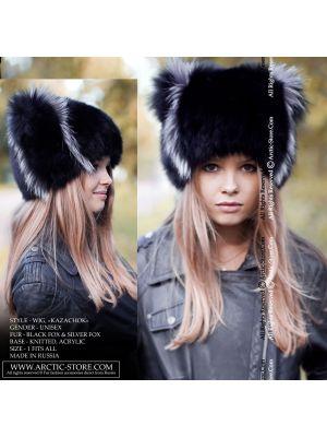 Fur wig - black fox / arctic-store