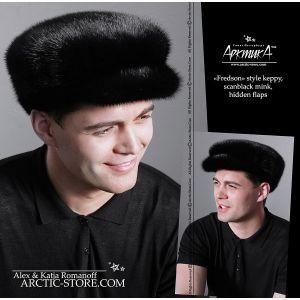 Flat cap, scanblack mink
