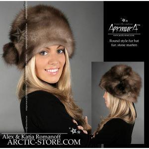 Marten fur hat - Russian shapka / arctic-store