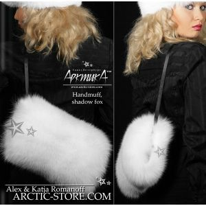 Hand-muff full fur, shadow fox