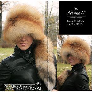 davy crocket hat - fox hat with tail - arktika