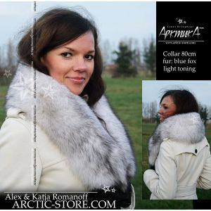 a white fur collar - women's polar fox stole