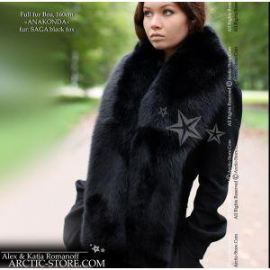 Fur stole 160cm - black fox / arctic-store
