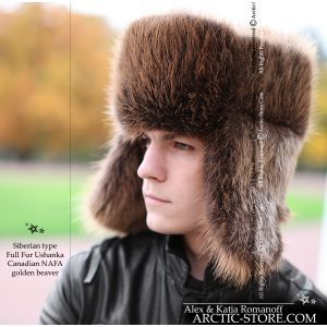 Siberian fur hat, beaver full fur ushanka / arctic-store