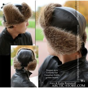 trapper fur Russian beaver hat