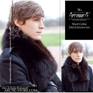 Men's Fur Collar - brown fox / arctic-store