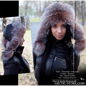 bomber cardinal hat - russian fur fox ushanka - arctic-store