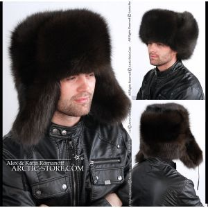 Siberian ushanka, brown fox