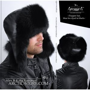 Trapper hat, black fox