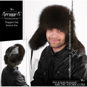 Trapper hat, brown fox
