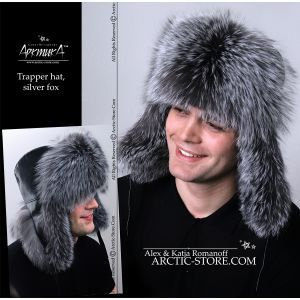 Trapper fur hat - silver fox / arctic-store