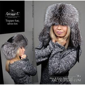 Fur hat for women - silver fox / arctic-store