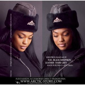 ambassador fur hat - black sheepskin hat