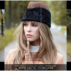 dark brown swakara karakul fur hat