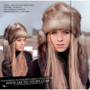 stone marten hat - luxury fur hat - arcticstore