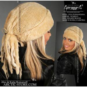 Fur bandana - sheared beaver hat / arctic-store