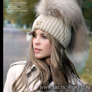 MadFox beanie - Mohawk fur hat