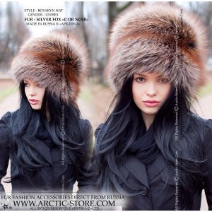 Luxury fur hat - silver fox l'or noir - arctic-store