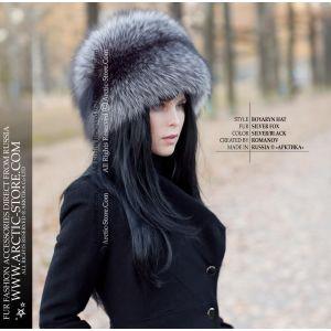 Luxury fur hat - silver fox fur hat