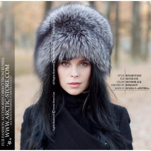 Luxury fur hat - silver fox fur hat