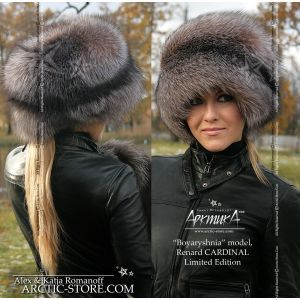 russian fox hat - luxe fur shapka - arctic-store