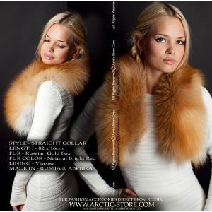 Women's fur collar - gold fox / arctic-store