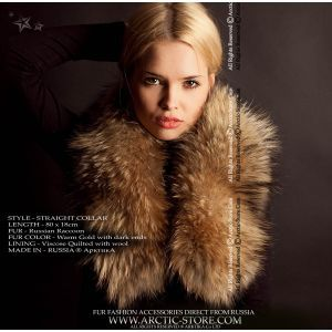 Women's Fur Collar - Russian raccoon / arctic-store
