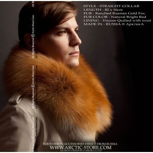 Men's fur boa - gold fox collar / arctic-store