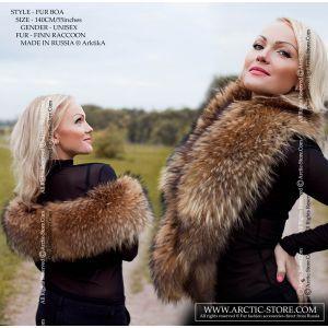 Finn raccoon boa - long fur collar / arctic-store