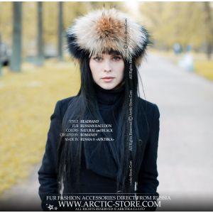 winter headband style - designer fur headband