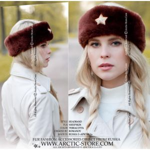 winter headband - sheepskin headband
