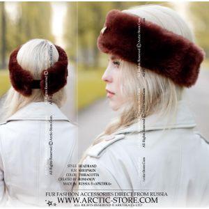 winter headband - sheepskin headband