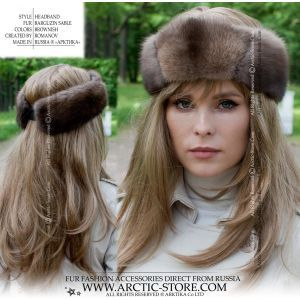 brown furs headband - brown fox headwrap