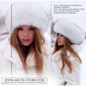 Roller fur hat - blue fox / arctic-store