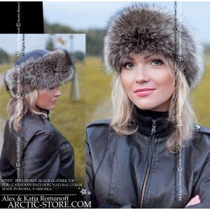 Roller fur hat - Raccoon Canadian / arctic-store