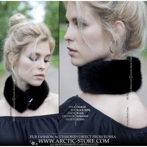 black fur necklet - mink necklace