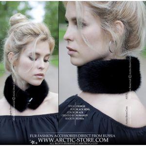 black fur necklet - mink necklace