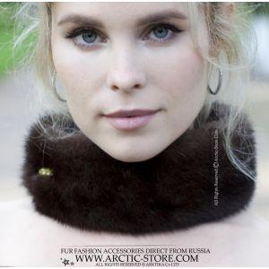 sapphire mink gorget - blue fur choker